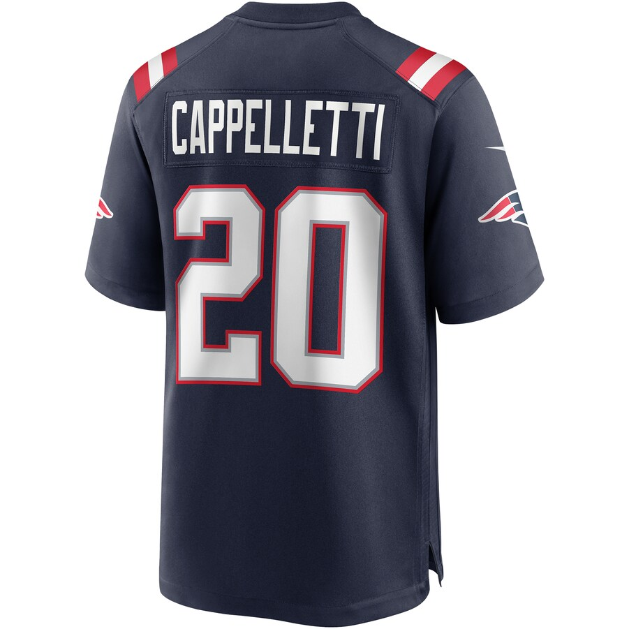 Gino Cappelletti New England Patriots Game Retired Player Jersey - Navy - ContinuityDiscountUSA ...