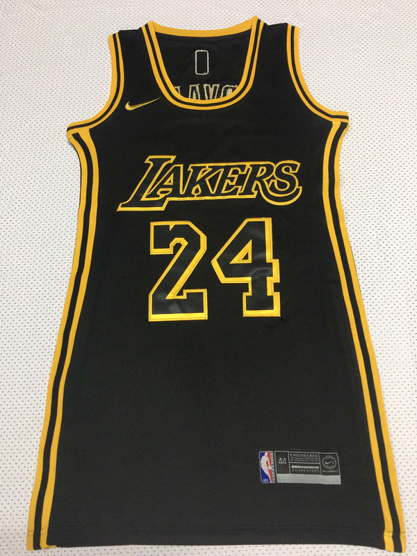 Kobe Bryant Black Los Angeles Laker Dress Jersey – Quill Orchestra ...